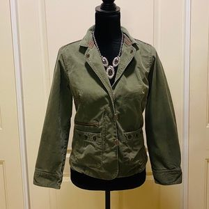 Columbia blazered olive green jacket